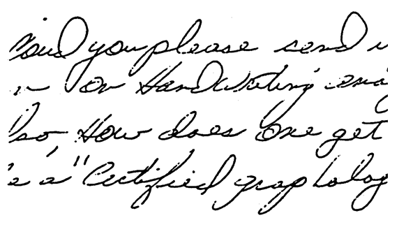 Handwriting Example #1